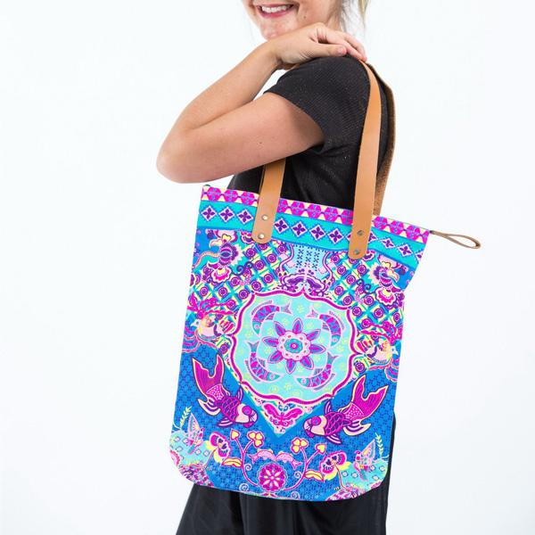 Bohemian Harem Väska - purple orient