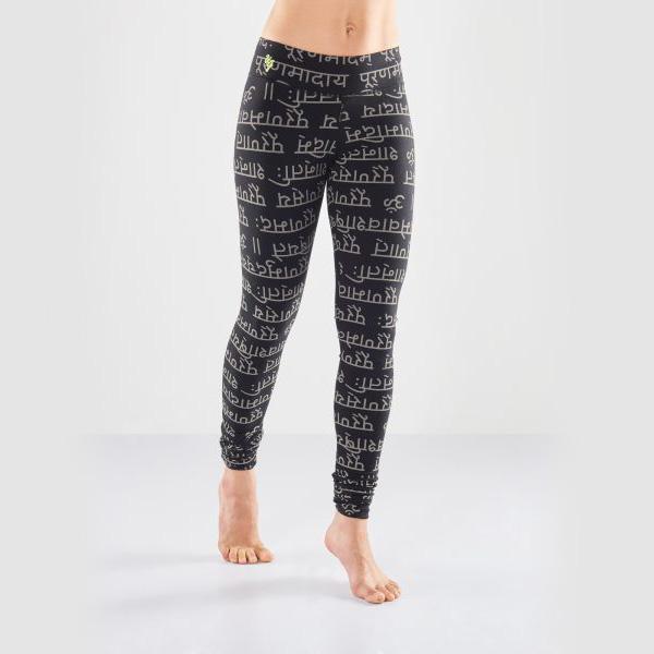 Yogaleggings Bhaktified Black/Shanti från Urban Goddess