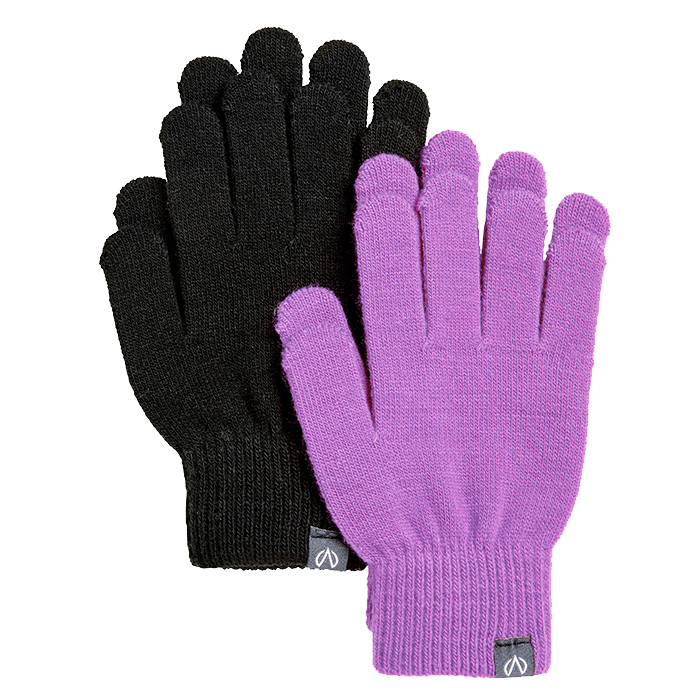 North Bend Magic Gloves 2-Pack JR - Svart & Lila
