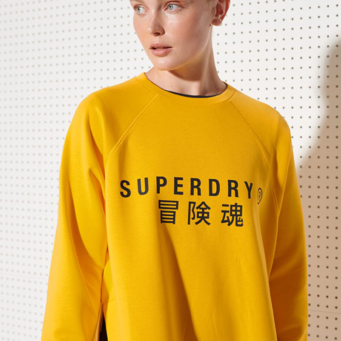 Superdry Training Graphic Oversized Crew Sweatshirt W