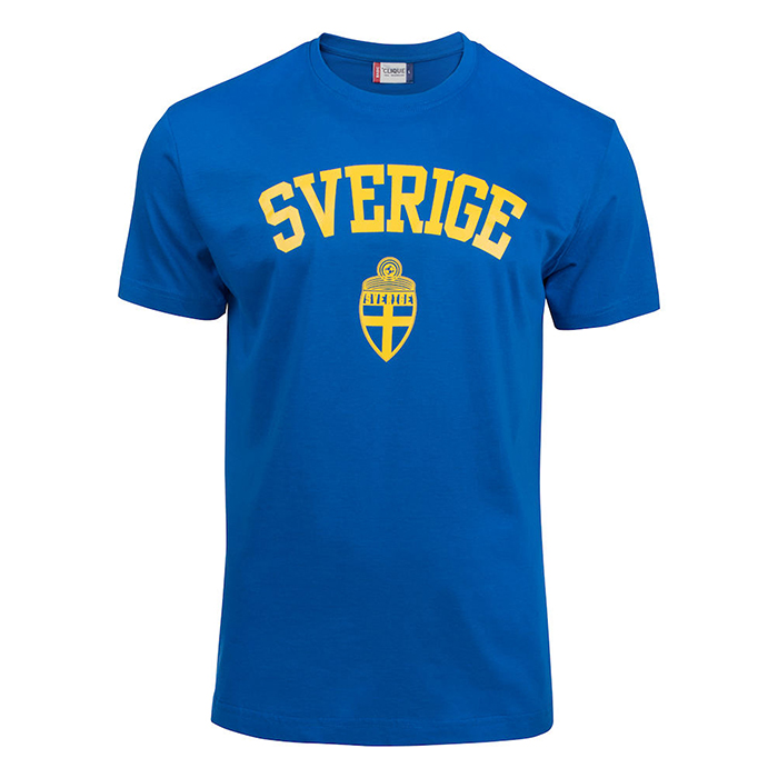 Sverige T-Shirt Blå Jr