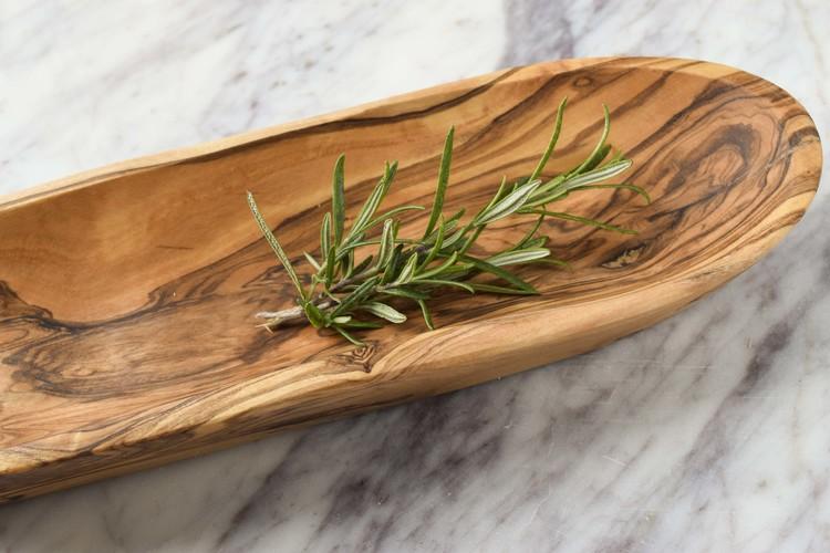 Skål i olivträ