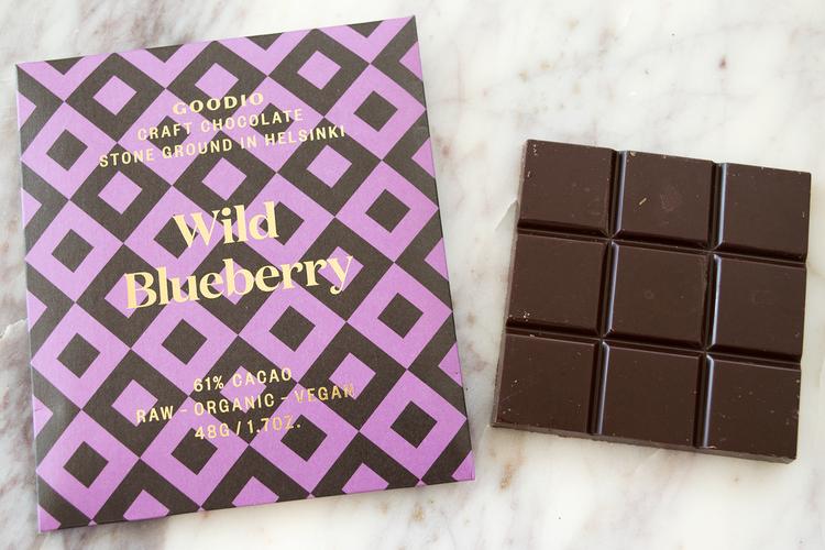 Wild Blueberry - raw choklad