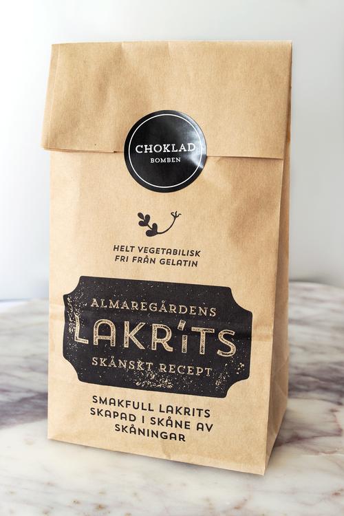 Lakrits doppad i choklad