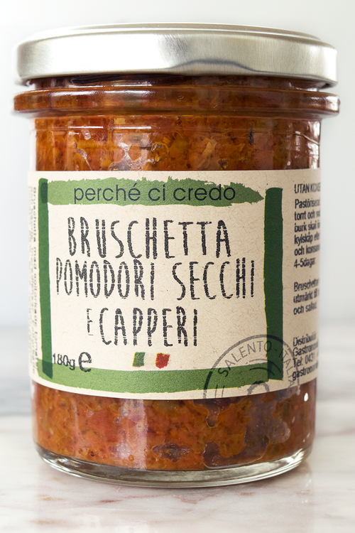 Bruschetta, soltorkad tomat/kapris