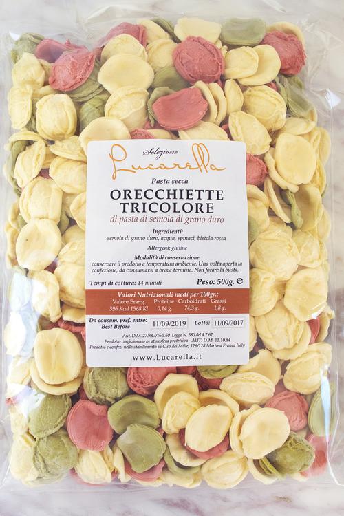 Orecchiette tricolore 500 g
