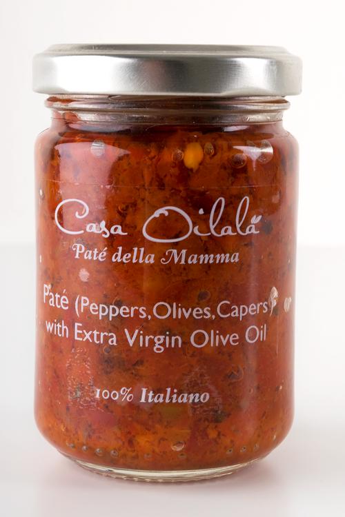 Salsa med paprika, oliver, kapris