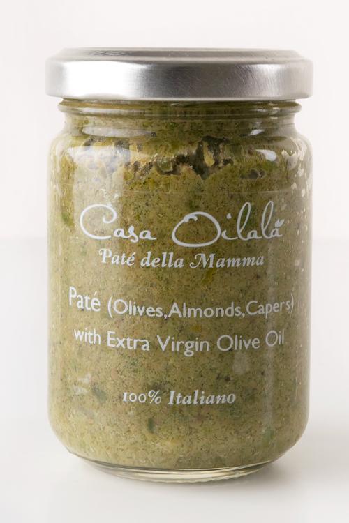 Tapenade på oliver, mandel, kapris
