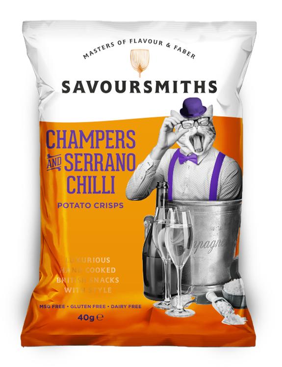 Chips med Champagne & Seranochili 40 g