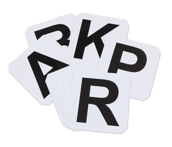 Self-Adhesive Dressage Letters