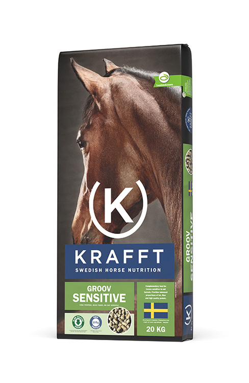 Hästfoder Krafft Groov Sensitive, 20 kg