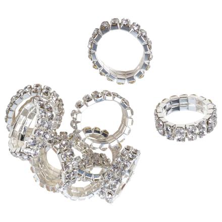 Flätningsband Crystal silver 1,5 cm 2 rader