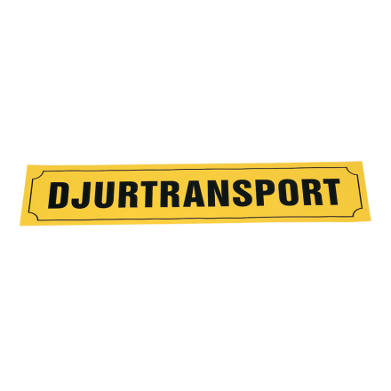 djurtransport skylt