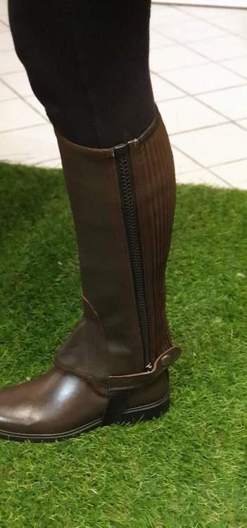 Shortchaps brun läder före 349
