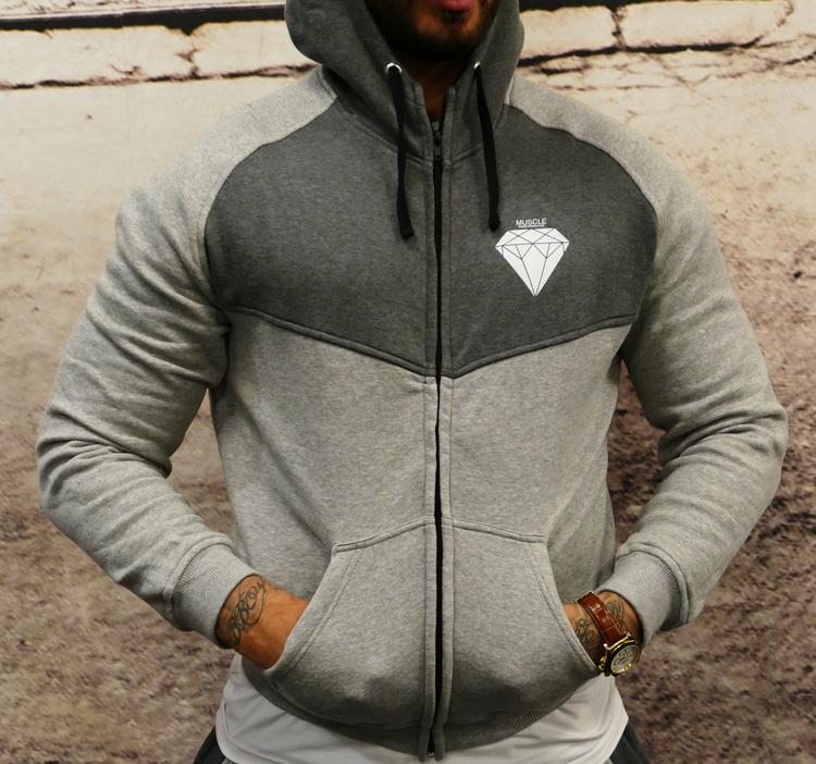 MPinc Grey Zipper Hoodie