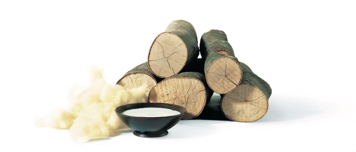 Bild på trä, ull och naturlatex