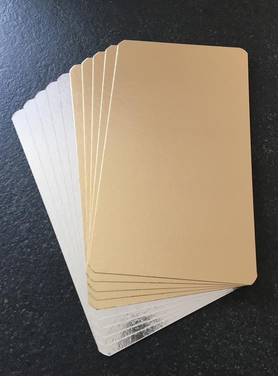 Laxbrickor Guld/Silver 200x350