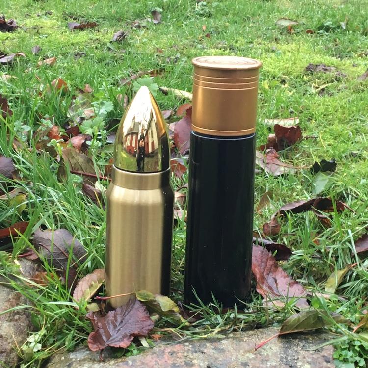 Thermos Ball & Shotgun Cartridge