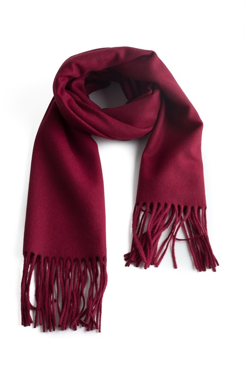 Solid Wool Scarf - Burgundy