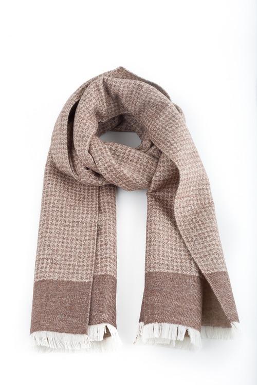 Wool/Silk Dogtooth - Beige