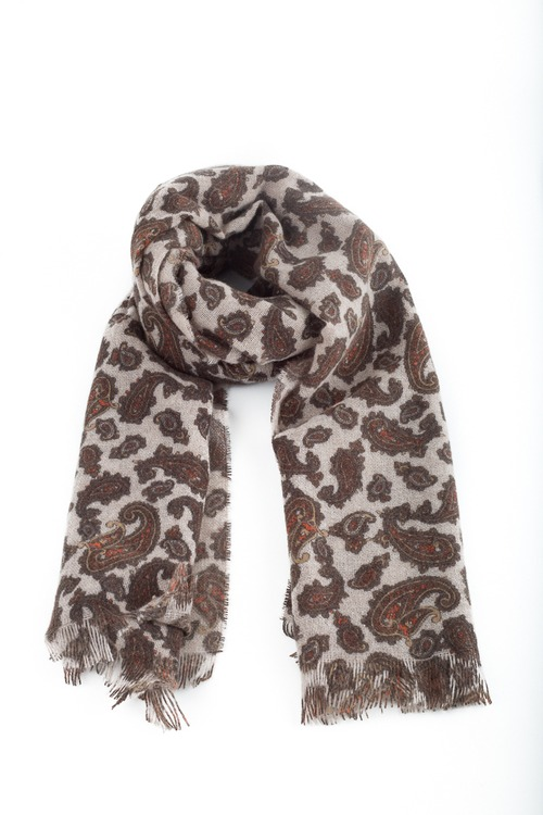 Cashmere Paisley - Beige/Brown/Rust