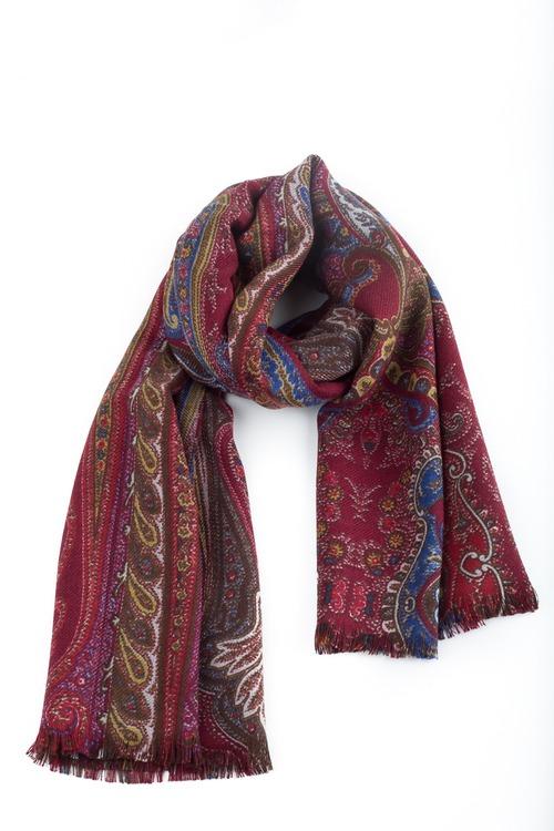Wool Paisley - Burgundy