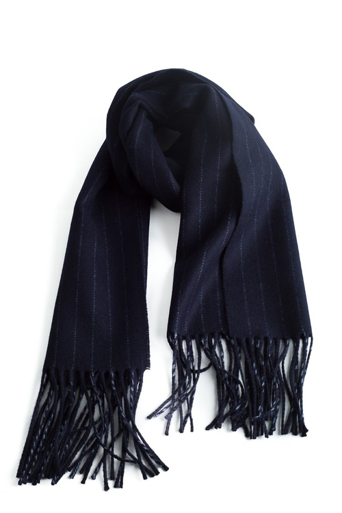 Wool Stripe - Navy Blue/Grey