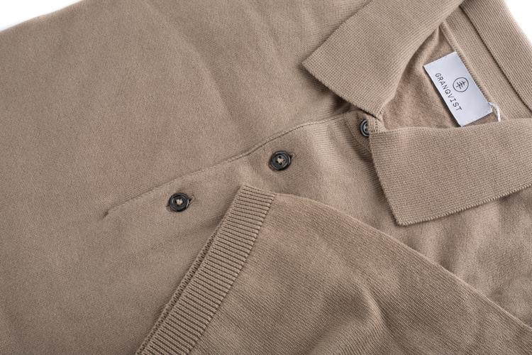 Pima Cotton Short Sleeve Polo - Beige