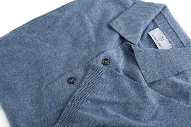 Pima Cotton Short Sleeve Polo - Light  Blue