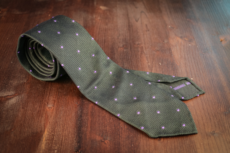 Untipped Grenadine Polka Dot - Green/Purple
