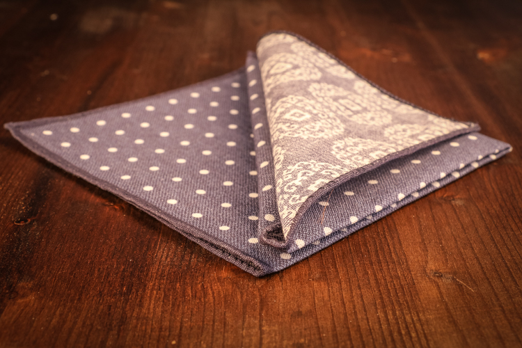 Cotton Polka Dot - Navy Blue/White