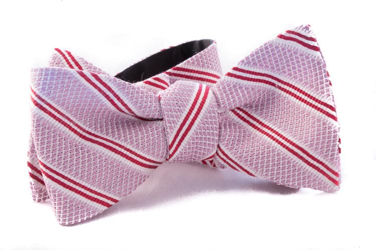 Self tie Garza Regimental - Pink/Red