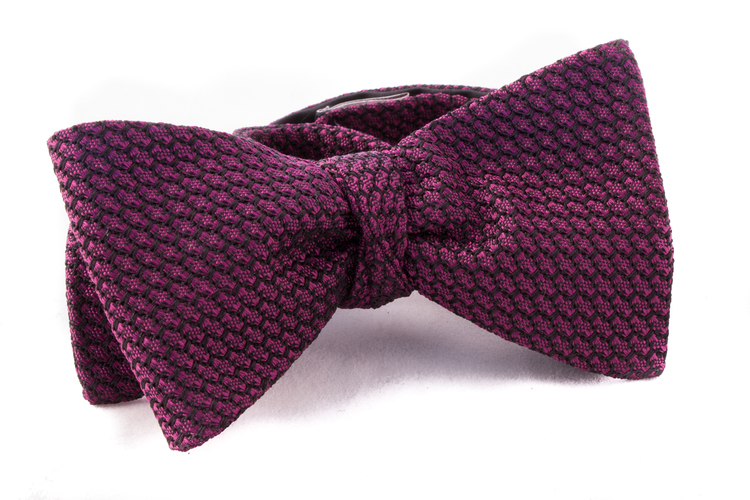 Self tie Garza Grossa - Cerise/Navy Blue