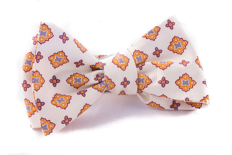 Self tie Silk Vintage - Citrus/Gold