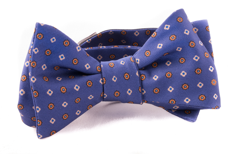 Self tie Silk - Blue/White/Yellow