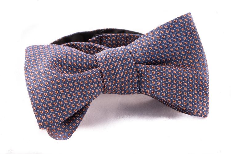 Self tie Silk - Blue/Orange