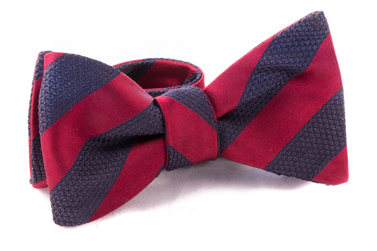 Self tie Garza Regimental - Burgundy/Navy Blue