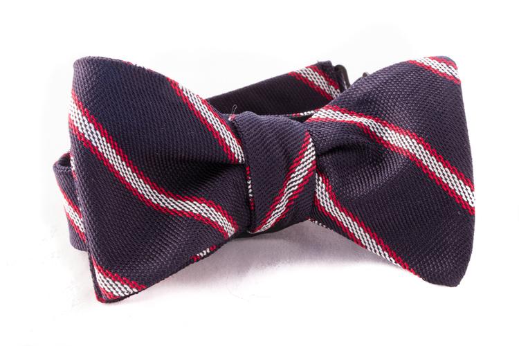Self tie Garza Regimental - Navy Blue/White/Red