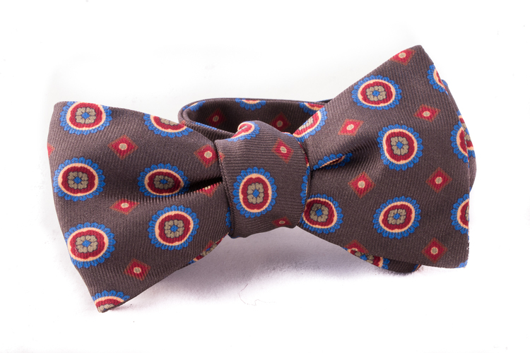 Self tie Silk - Green/Red/Blue