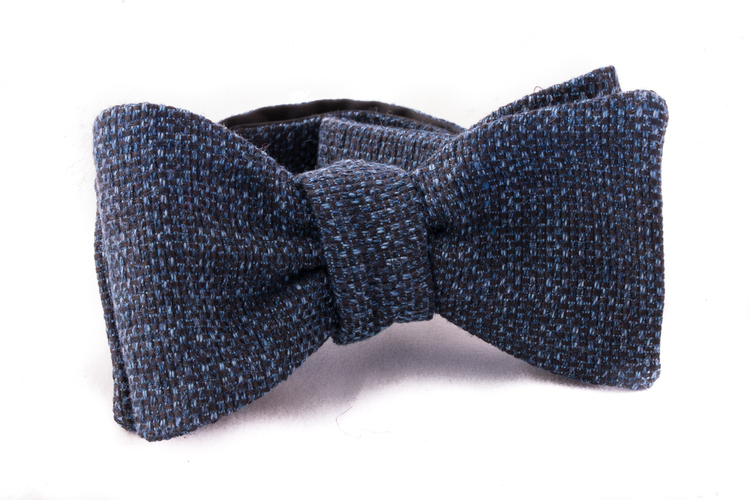 Self tie Cotton - Navy Blue