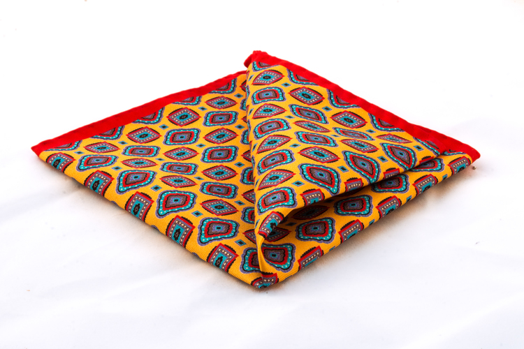 Silk Medallion - Orange/Blue