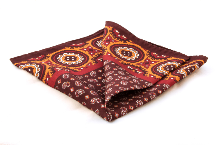 Silk Medallion - Brown/Rust (36x36)