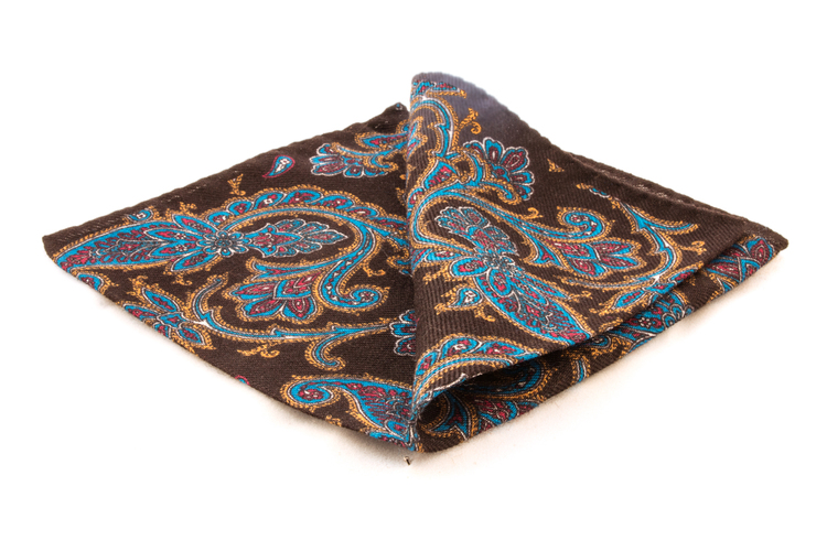 Wool Paisley - Brown/Orange/Blue