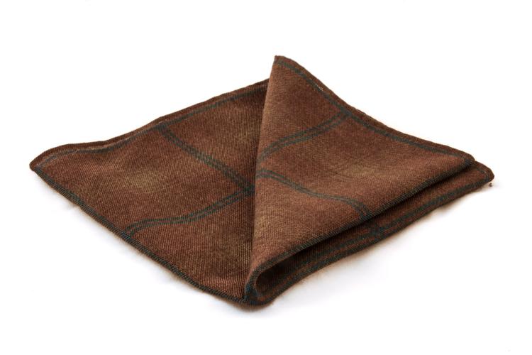 Wool Plaide - Brown/Turqouise
