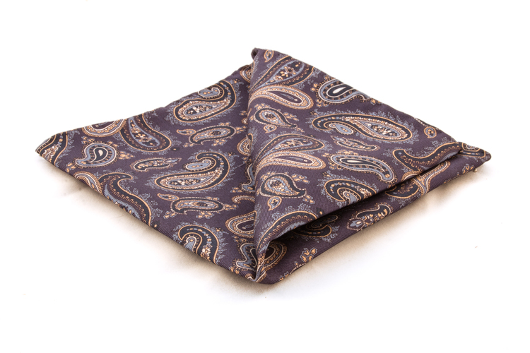Silk Paisley - Navy Blue