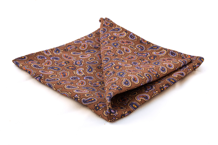 Silk Paisley - Bronze/Purple