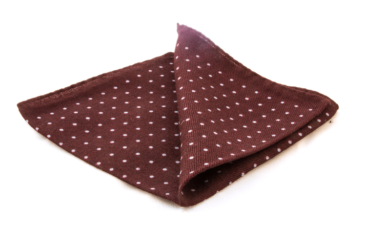 Wool Polka Dot - Brown/Light Blue