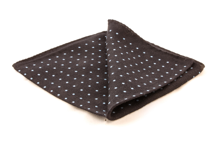 Wool Polka Dot - Navy Blue/Light Blue