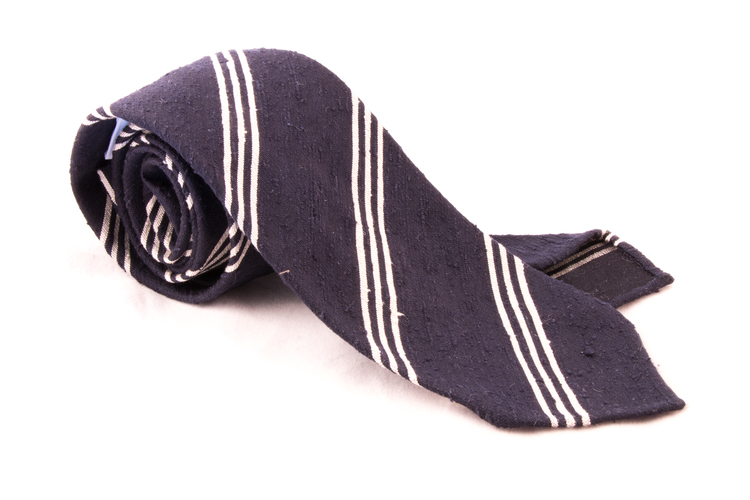 Untipped Regimental - Navy Blue/White