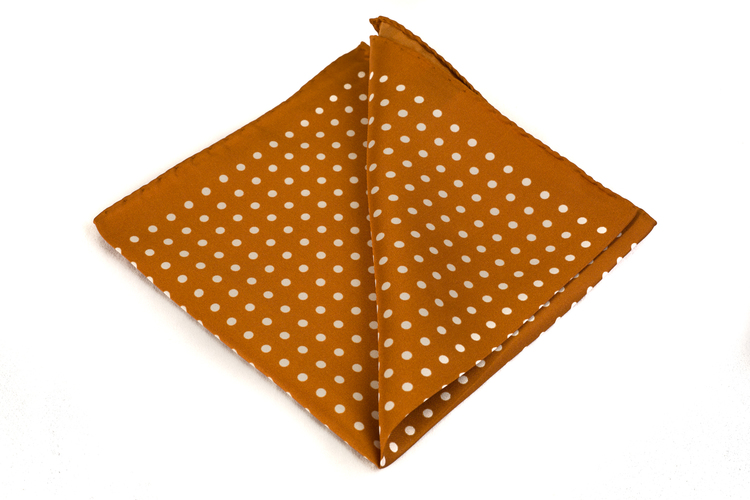 Silk Polka dot - Rust/White